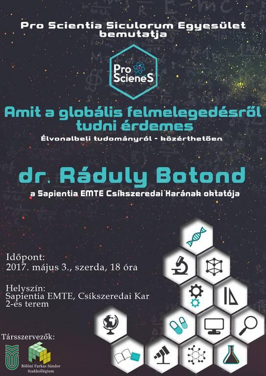 Dr. Ráduly Botond: Amit a globális felmelegedésről tudni érdemes